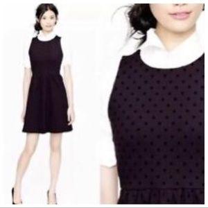 J. Crew Black Polka Dot Pointe Sleeveless Dress